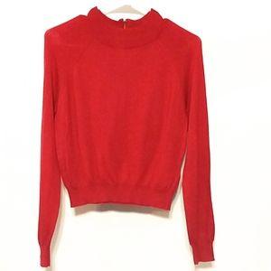 Forever 21 NWT maroon  sweater zip sz Medium